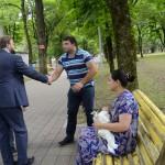 В Атажукинском саду дарили ромашки
